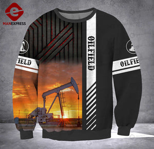 MH 2309 OILFIELD SWEATSHIRT 3D ALL OVER PRINT
