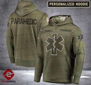Personalized Paramedic CMF 3D printed hoodie