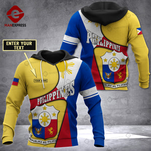 Personalized Philippines 3D printed hoodie XOE