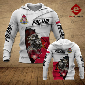 Polish Firefighter 3D printed hoodie FSW Poland