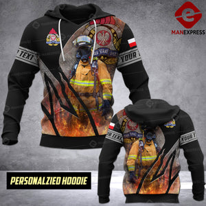 Personalized Polish Firefighter 3D printed hoodie RYE
