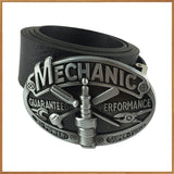 Mechanic Belt Buckle with Pewter Finish with PU Belt Classic