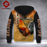 Rooster ranch grass 3D printed hoodie