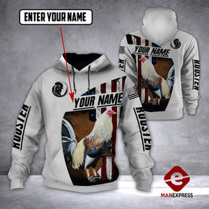 LMT CUSTOMIZE ROOSTER FLAG 3D PRINT HOODIE TMA2112