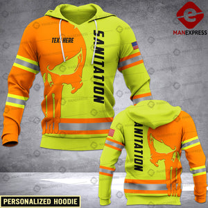 Personalized Sanitation Worker 3D printed hoodie FCU