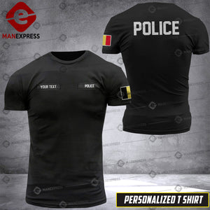 Personalized Belgian Police Tshirt DLZ