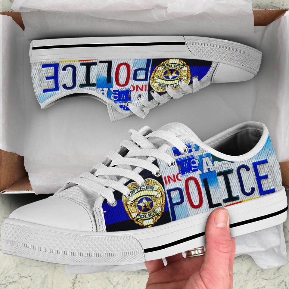 POLICE - LOW TOP SHOES