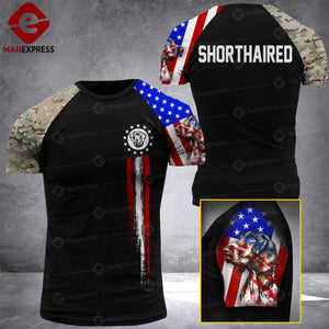 Shorthaired flag sleeve LMT Tshirt NINZZ