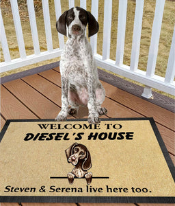 Shorthaired Pointer Welcome Doormat LHT