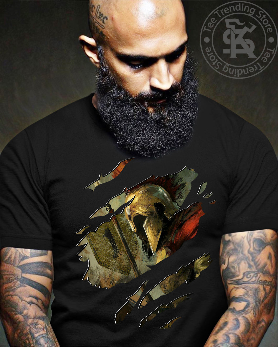 spartan 1st infantry T shirt