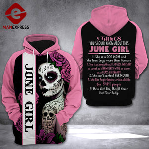 5 Things about June Girl 3D printed hoodie FTM