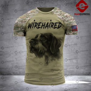 Wirehaired Pointer 3D printed Tshirt KTY