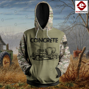 Concrete Finisher 3D printed hoodie ETY CM