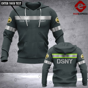 Personalized New York City Department of Sanitation Garbage Collector DSNY 3D printed hoodie KDP