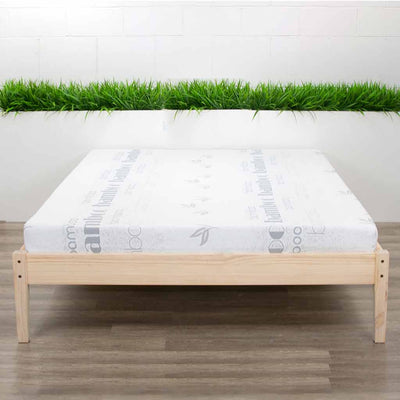 Queen  Mattress on Bed Frame