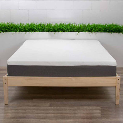 Hevean 10 Latex Mattress on Bed Frame
