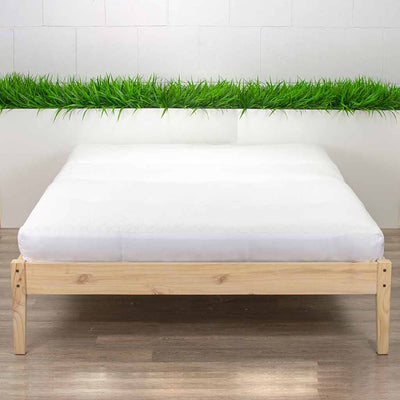 Memory Foam Futon Mattress on Platform Bed
