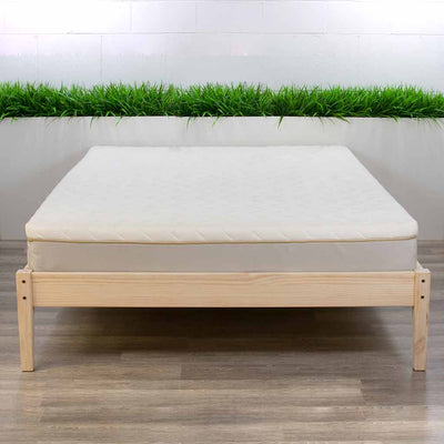 Organic Latex Mattress on Bed Frame