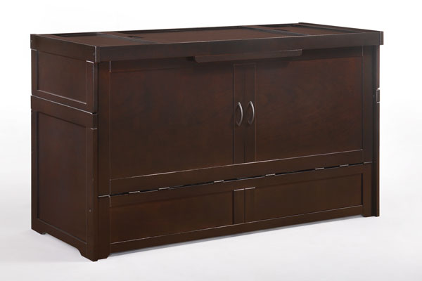Murphy Cabinet Bed - Chocolate
