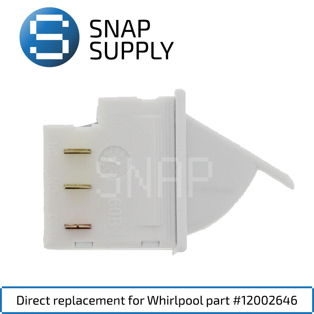Replacement Refrigerator Light Switch for SNAP Supply 12002646