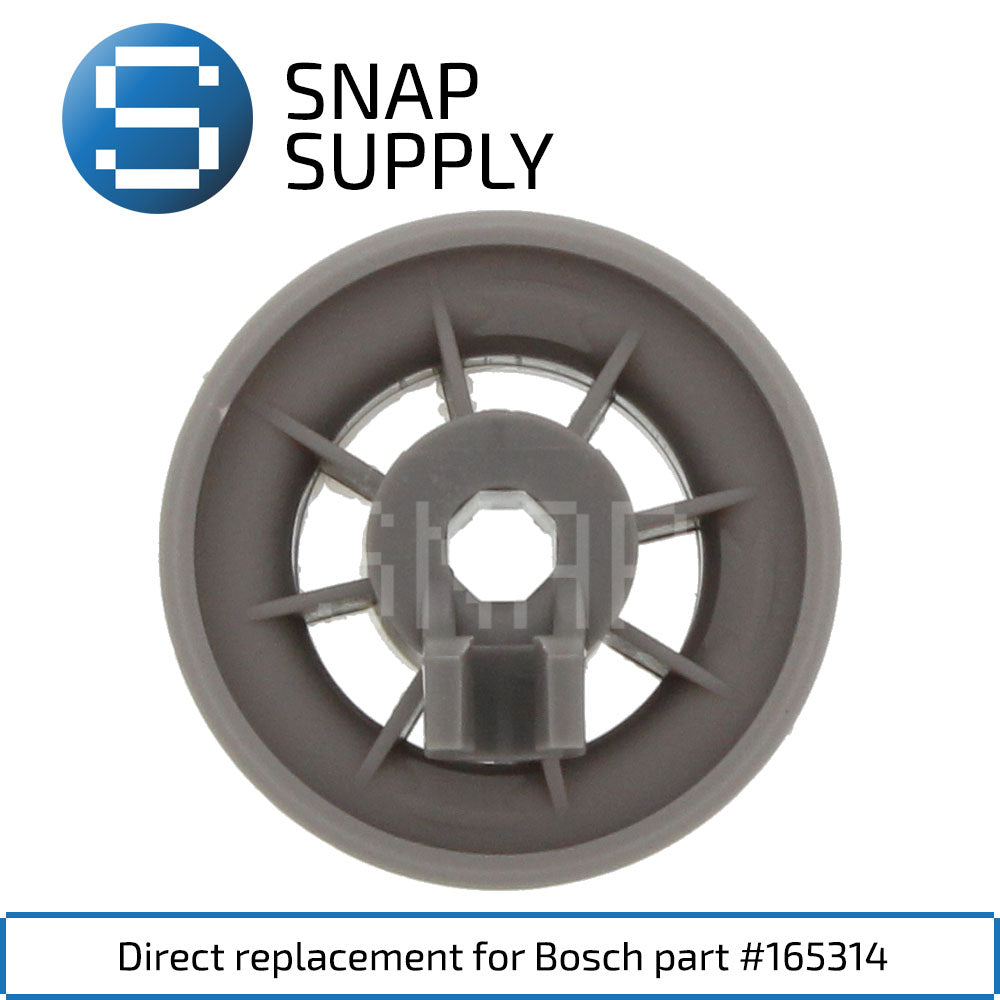 Replacement Dishwasher Rack Wheel for SNAP Supply 165314