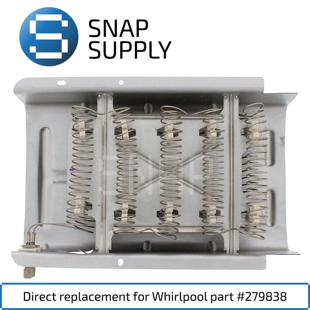 Replacement Dryer Heating Element for SNAP Supply 279838