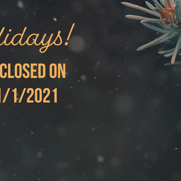 Happy Holidays! Snap Supply will be closed on 12/24, 12/25, and 1/1/2021
