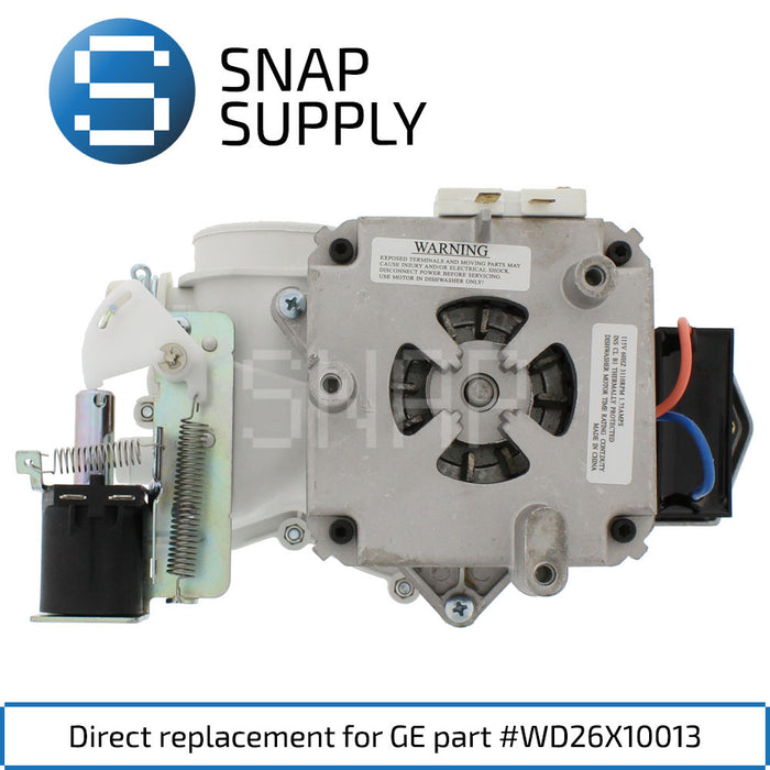 Replacement Dishwasher Pump & Motor for SNAP Supply WD26X10013