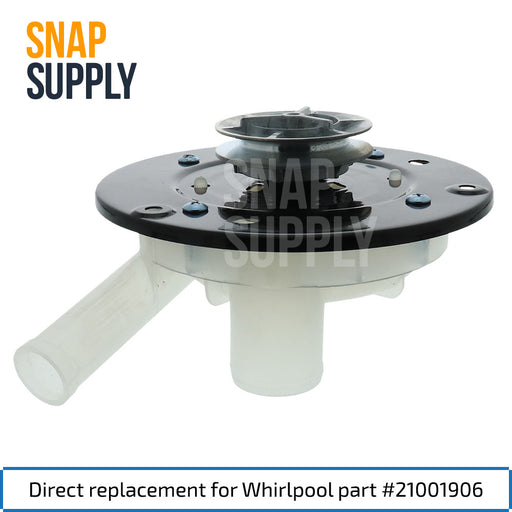21001906 Washer Pump for Whirlpool - Snap Supply -Home Improvement [Product_Sku]