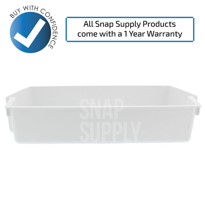 2187172 Refrigerator Bin (White) for Whirlpool - Snap Supply -Refrigerator Parts and Accessory [Product_Sku]