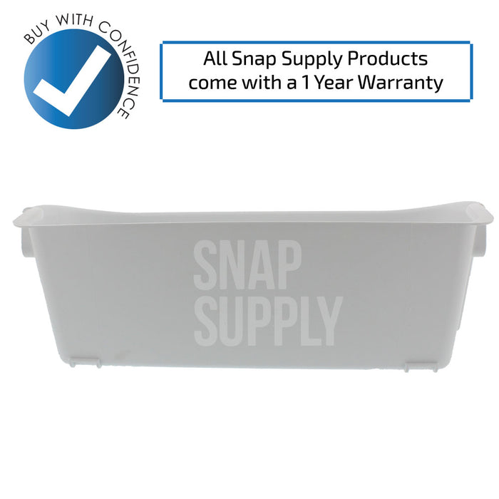240356401 Refrigerator Bin (White) for Frigidaire - Snap Supply -Refrigerator Parts and Accessory [Product_Sku]