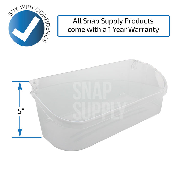 240356402 Refrigerator Bin (Clear) for Frigidaire - Snap Supply -Refrigerator Parts and Accessory [Product_Sku]
