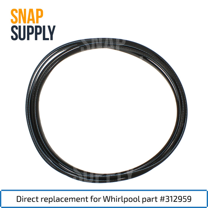 312959 Dryer Belt for Whirlpool - Snap Supply -Dryer Parts and Accessory [Product_Sku]