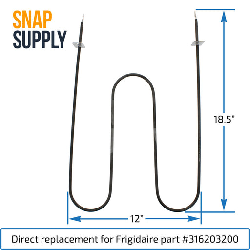 316203200 Broil Element for Frigidaire - Snap Supply -Element [Product_Sku]