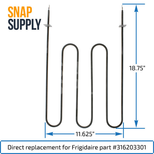 316203301 Broil Element for Frigidaire - Snap Supply -Element [Product_Sku]