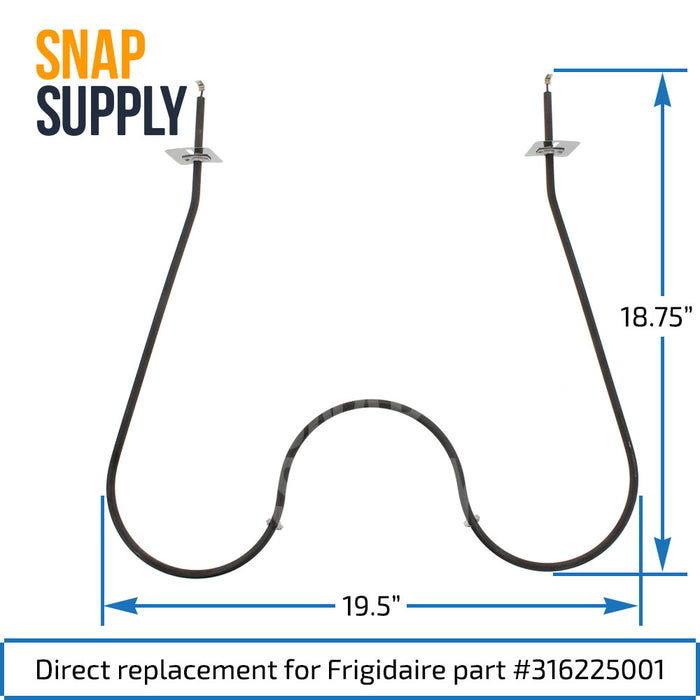 316225001 Bake Element for Frigidaire - Snap Supply -Element [Product_Sku]
