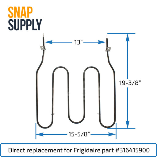 316415900 Bake Element for Frigidaire - Snap Supply -Element [Product_Sku]