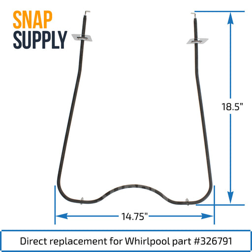 326791 Bake Element for Whirlpool - Snap Supply -Element [Product_Sku]