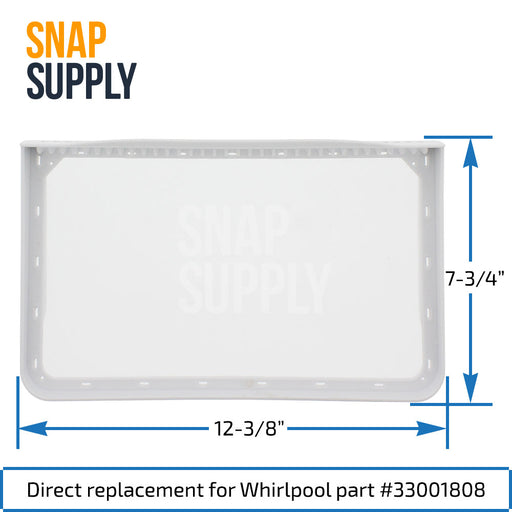33001808 Dryer Lint Filter for Whirlpool - Snap Supply -Dryer Parts and Accessory [Product_Sku]