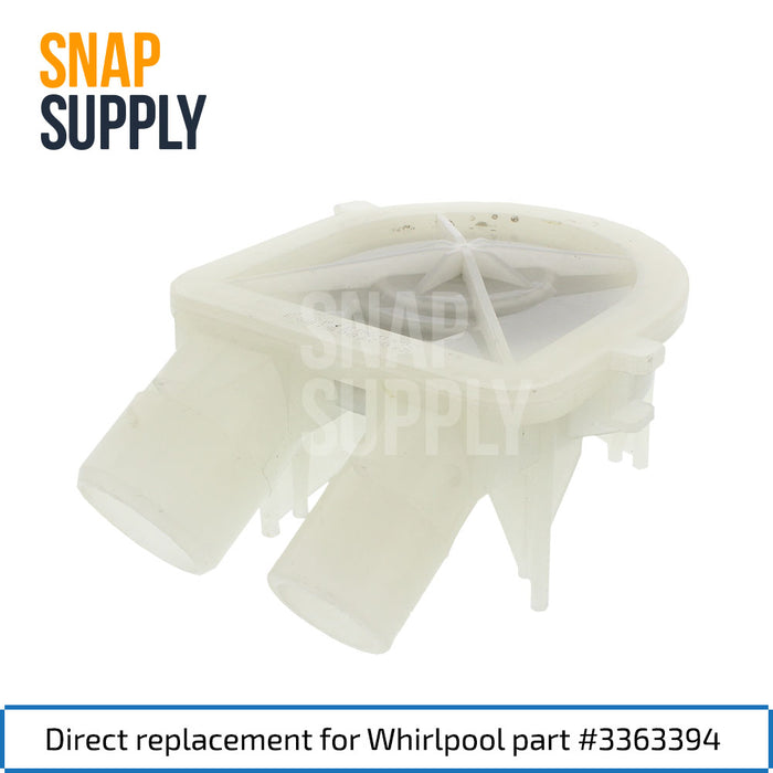 3363394 Washer Pump for Whirlpool - Snap Supply -Home Improvement [Product_Sku]