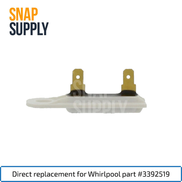 3392519 Thermal Fuse for Whirlpool - Snap Supply -Dryer Parts and Accessory [Product_Sku]