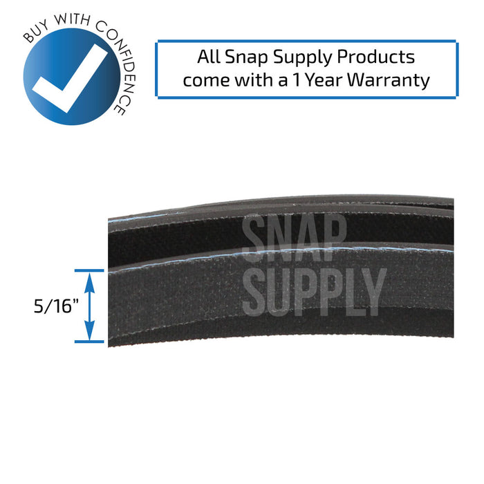 40111201 Dryer Belt for Whirlpool - Snap Supply -Dryer Parts and Accessory [Product_Sku]