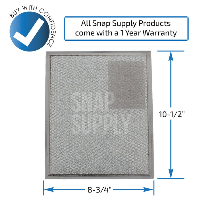 4341977 Aluminum Filter for Whirlpool - Snap Supply -Oven Parts and Accessory [Product_Sku]