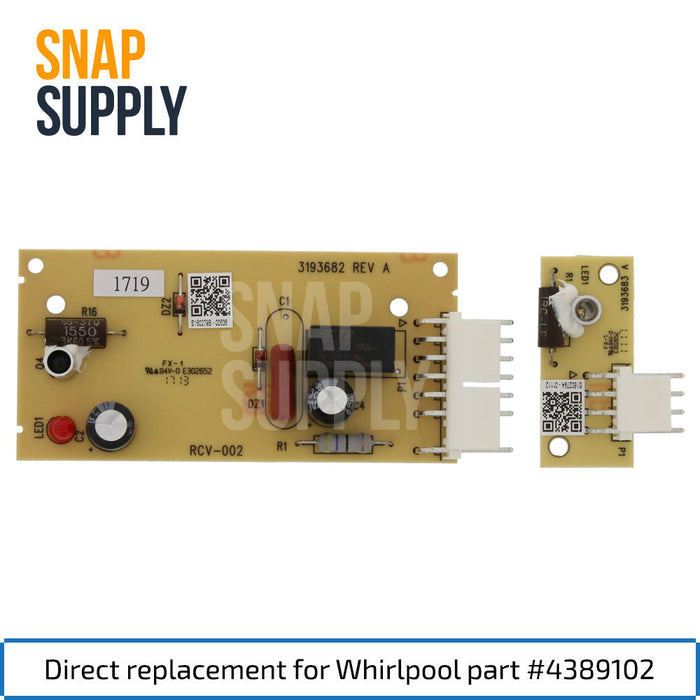 4389102 Ice Maker Board for Whirlpool - Snap Supply -Refrigerator Parts and Accessory [Product_Sku]