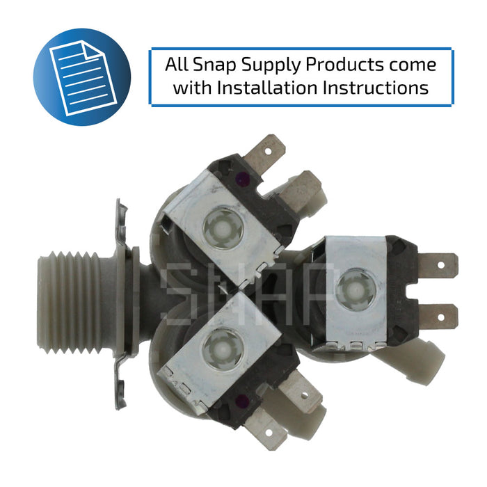 5221ER1003A Water Valve for LG - Snap Supply -Refrigerator Parts and Accessory [Product_Sku]