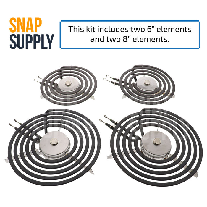 5304516159KIT Surface Element KIT (2) 5304516159 & (2) 5304516160 for Frigidaire - Snap Supply -Element [Product_Sku]