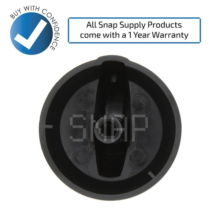 316220009 Range Burner Knob for Frigidaire - Snap Supply -Oven Parts and Accessory [Product_Sku]