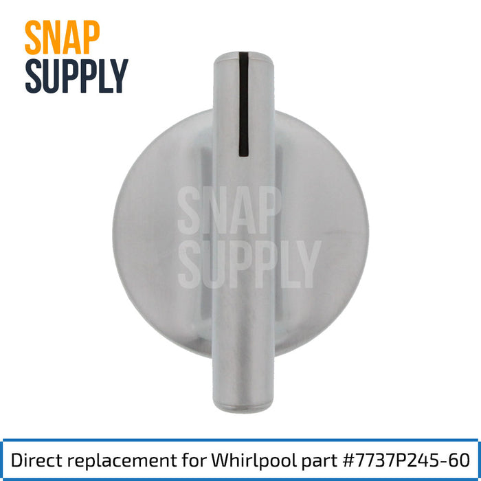 7737P245-60 Fan Knob for Whirlpool - Snap Supply -Oven Parts and Accessory [Product_Sku]