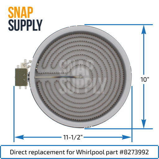 8273992 Elemento de superficie para Whirlpool - Snap Supply -Element [Product_Sku]