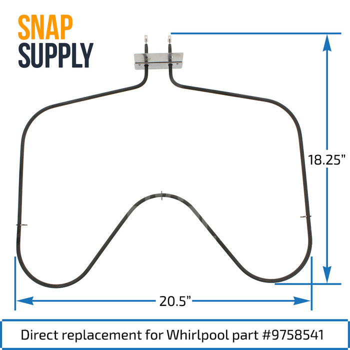 9758541 Bake Element for Whirlpool - Snap Supply -Element [Product_Sku]